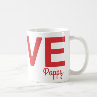 Personalized Poppy Love Mug