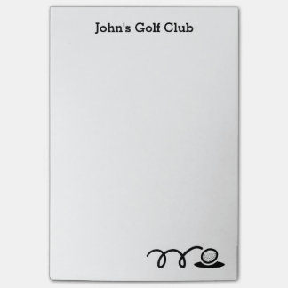 Personalized Post-it® notes for golf club