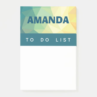 Personalized Post it notes modern design