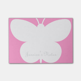 Personalized Post-it® notes with cute butterfly