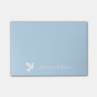 Personalized Post-it® notes with white doves