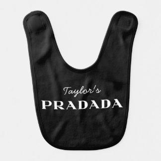 Personalized Pradada Designer Logo Baby Bibs