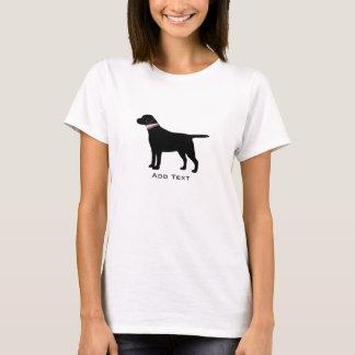 Personalized Preppy Black Lab Dog Silhouette T-Shirt