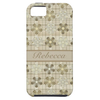 Personalized Pretty Floral Pattern Earthy Colors iPhone 5 Covers
