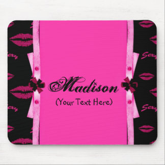 Personalized Pretty in Pink Mouse Pad
