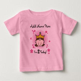 Personalized Princess 2nd Birthday Tshirt