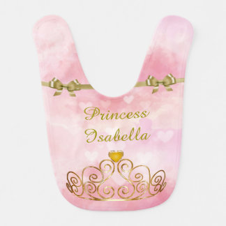 Personalized Princess Isabella Bib, Add Your Name Baby Bibs