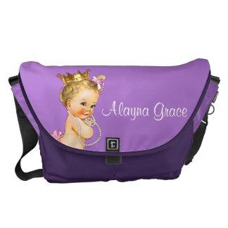 Personalized Princess Purple Baby Diaper Bag Messenger Bags