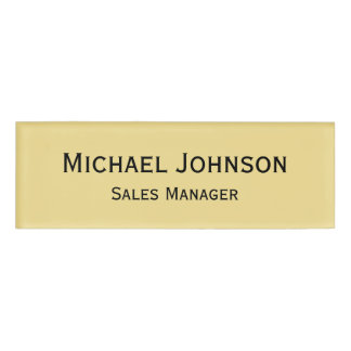 Personalized Professional Rich Faux Gold Magnetic Name Tag