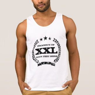 Personalized PROPERTY OF XXL tank top | Vintage