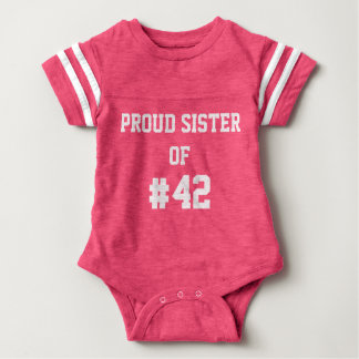 Personalized Proud Sister Football outfit Tshirt