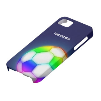 Personalized Psychedelic Soccer iPhone 5 Case