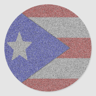 Personalized Puerto Rican Flag Classic Round Sticker