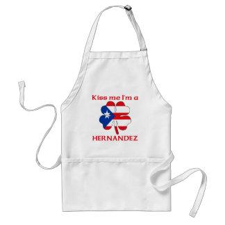 Personalized Puerto Rican Kiss Me I'm Hernandez Standard Apron