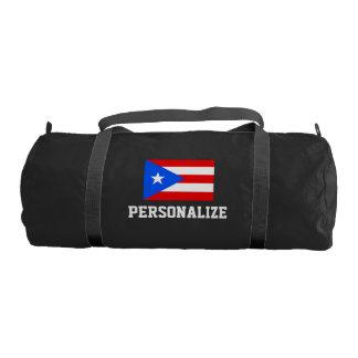 Personalized Puerto Rico flag duffle gym bag Gym Duffel Bag