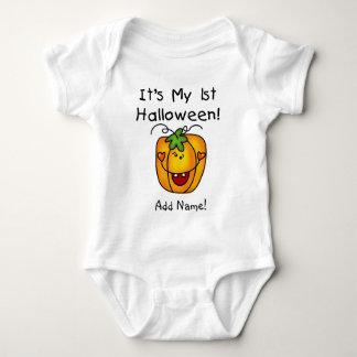 Personalized Pumpkin 1st Halloween Creeper