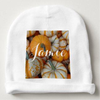Personalized Pumpkin Baby Beanie