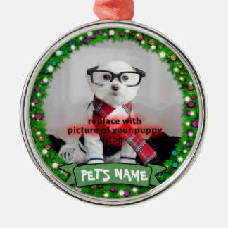 Personalized Puppy Dog Pet Photo Ornament