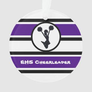 Personalized Purple and Black Cheerleader Ornament