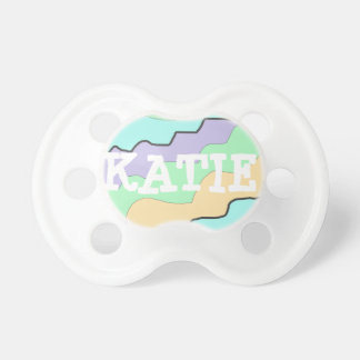 Personalized Purple and Orange Baby Pacifier