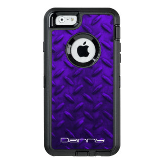 Personalized Purple Faux Metal Otterbox Phone Case