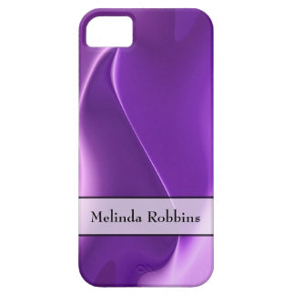 Personalized Purple Flame Abstract Barely There iPhone 5 Case