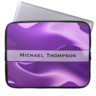 Personalized Purple Flame Abstract Computer Sleeve