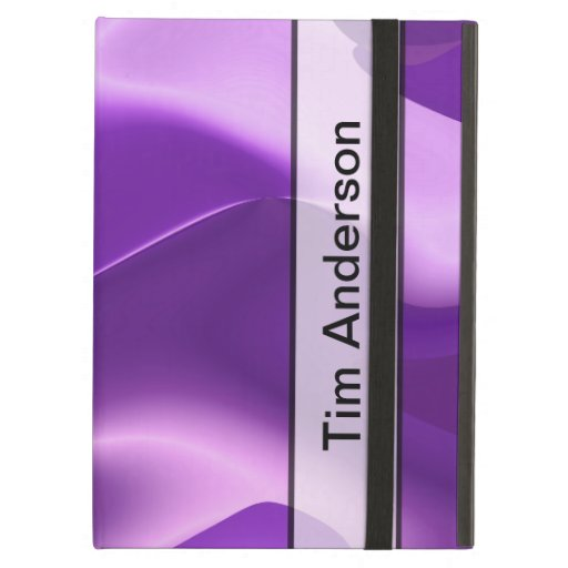Personalized Purple Flame Abstract iPad Cover