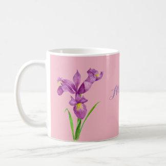 Personalized Purple Iris Mug