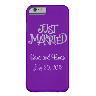 Personalized Purple Just Married iPhone 6 case