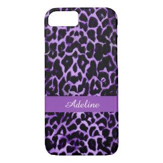 Personalized Purple Leopard Animal iPhone 7 Case