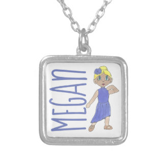 Personalized Purple Lyrical Dance Modern Recital Silver Plated Necklace