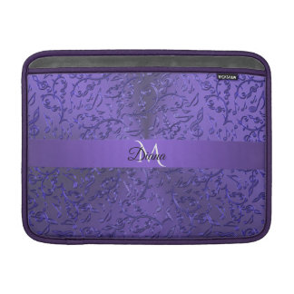 Personalized Purple Music Notes Macbook Sleeve