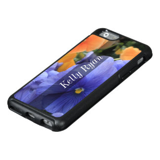 Personalized Purple & Orange Pansies, Photo 4810 OtterBox iPhone 6/6s Case