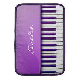 Personalized Purple Piano Music MacBook Sleeve