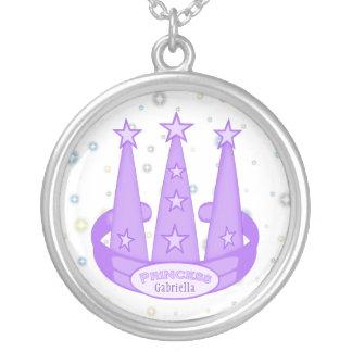 Personalized: Purple Princess Crown Necklace