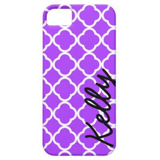 Personalized purple quarterfoil iPhone case cover
