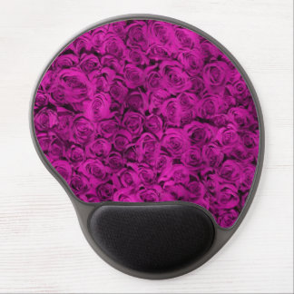 Personalized Purple Roses girly Gel Mouse Pad