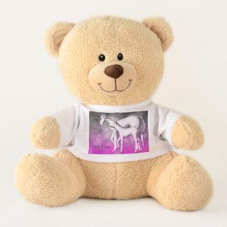 Personalized Purple Unicorn Bear