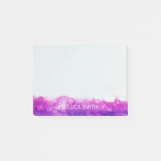 Personalized Purple Violet Lavender Watercolor Post-it Notes