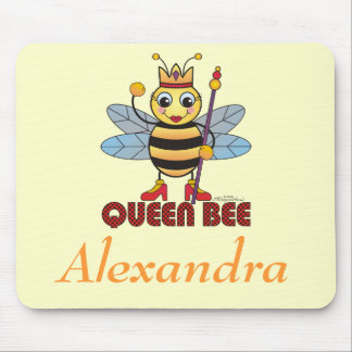"""Personalized """"Queen Bee"""" Mouse Pad"""
