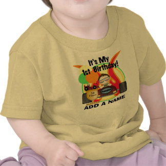 Personalized Racing First Birthday T-shirt