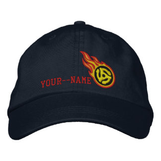 Personalized Racing Flames 45 Spacer Bullet Badge Embroidered Hat