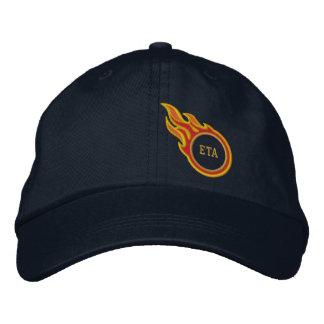 Personalized Racing Flames Bullet Monogram Baseball Cap