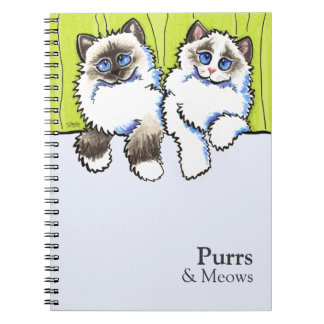 Personalized Ragdoll Cats Off-Leash Art™ Notebooks