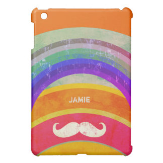 Personalized Rainbow Mustache iPad Mini Case For The iPad Mini