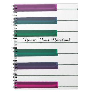 Personalized Rainbow Piano Music Notebook