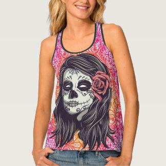Personalized Rainbow Sugar Skull, Los Muertos Singlet