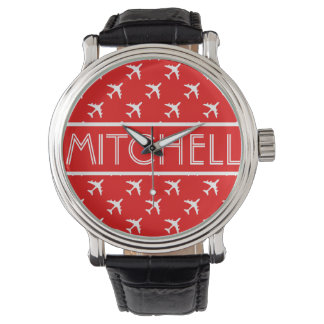 Personalized Red Aero BOF Wristwatch