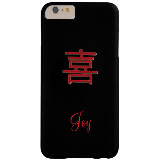 Personalized Red and Black Joy iPhone 6 Plus Case